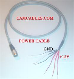 Power Cable 4 Pin Female