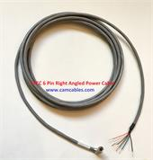 Power Cable 6 Pin Right Angled Female